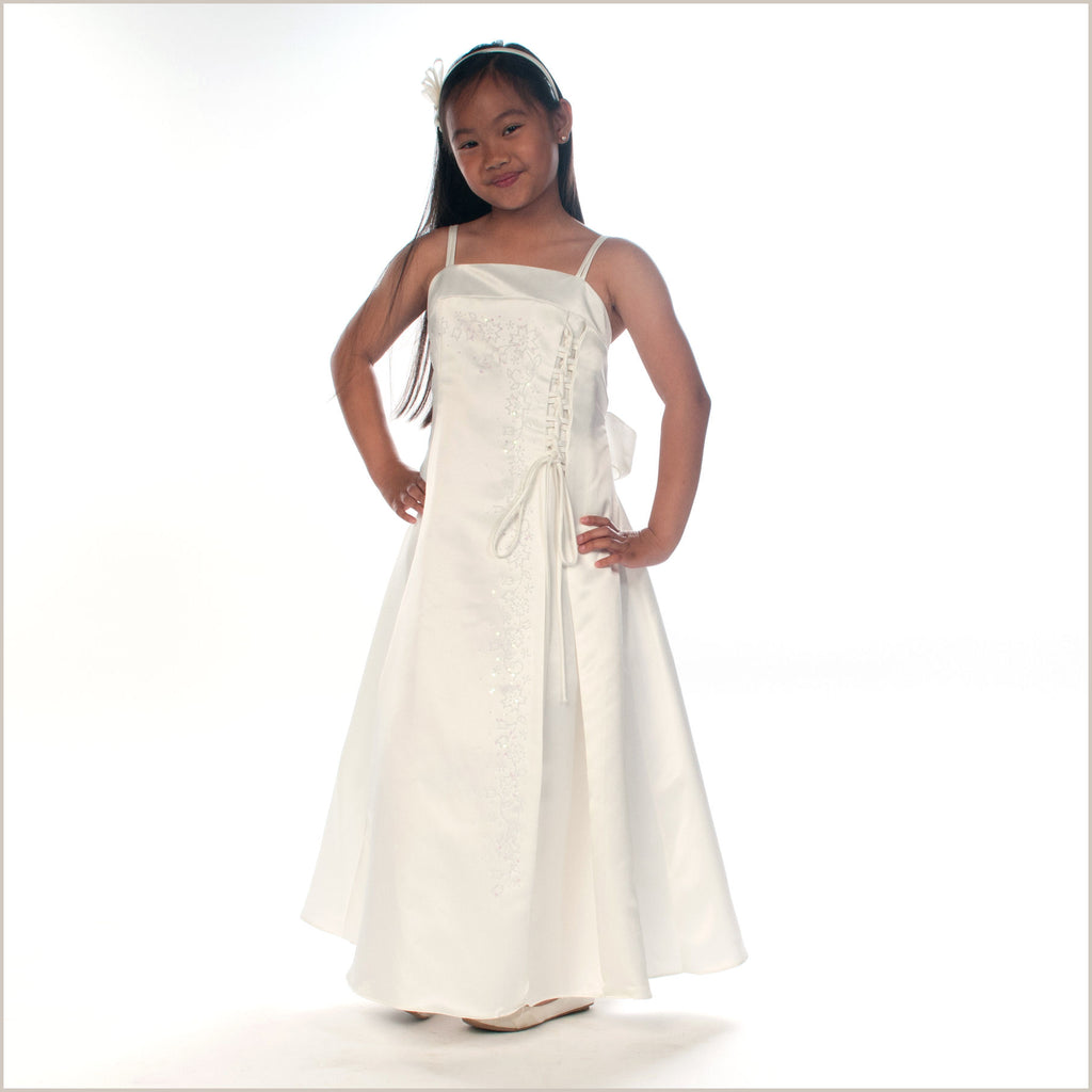 tamsin ivory junior bridesmaid dress with caviar beading