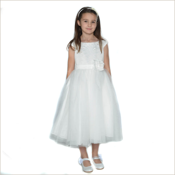 7ab1726778 Kelly Flower Girl Dress in Ivory With Lace Collar ...
