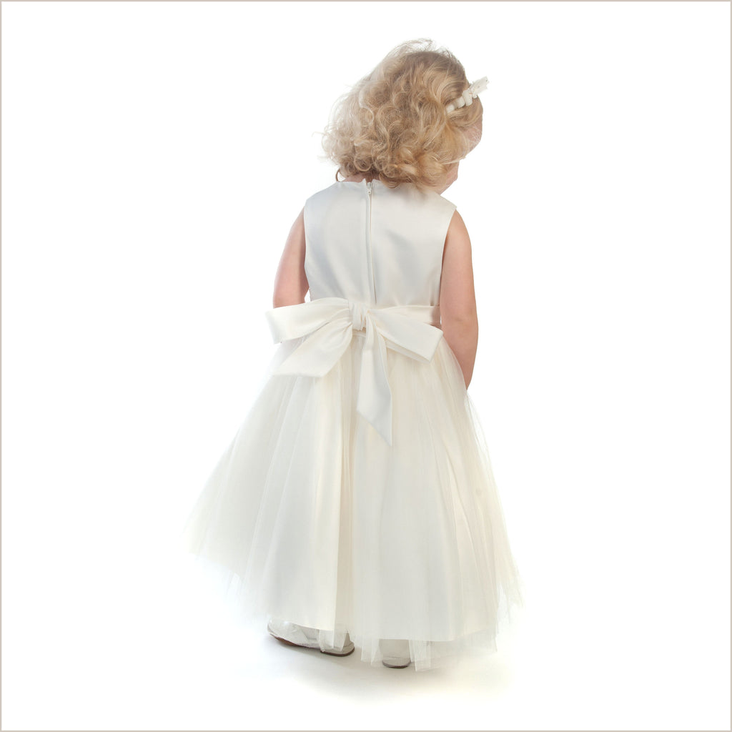 Vienna Ivory Tulle Dress with Ivory Sash