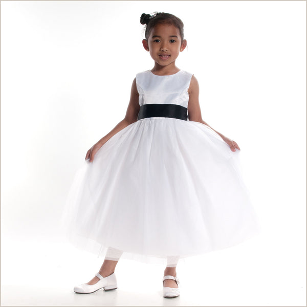 Princess Flower Girl Dress in White