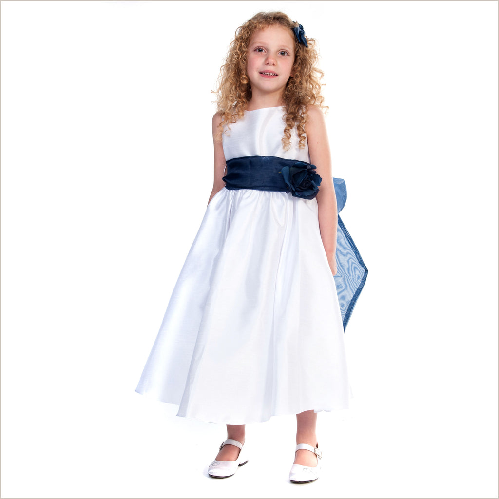Belle Sash Dress in White