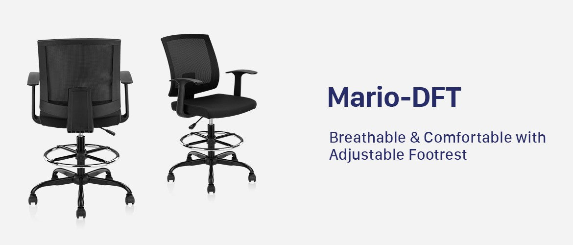 Clatina Mario-DFT Ergonomic Drafting Office Chair Overview