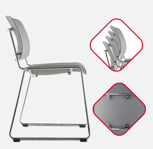 Klasika Delia Lumbar Support Stacking Chair set of 4 Overview