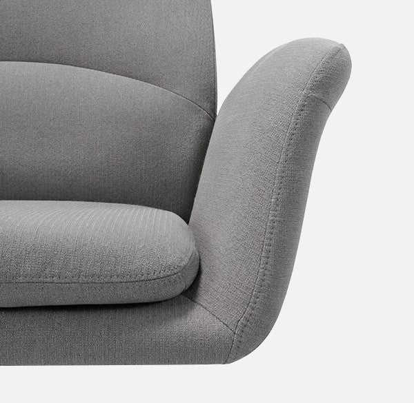 Novigo Rubi Upholstered Swivel Accent Chair with Wheels Overview