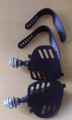 Exercise Cycle/Bike Pedal With Straps (1 pair)