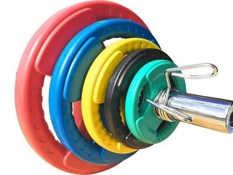 Viva Fitness High Quality Colored Rubber Coated 28mm Weight Plates (1 pair)