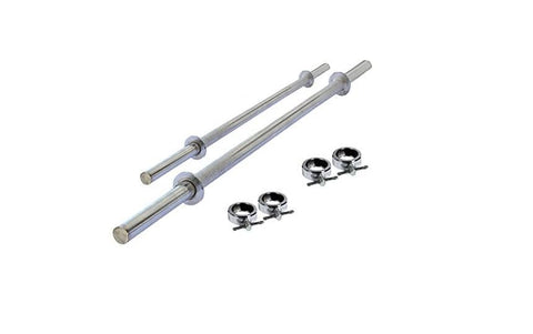 STRAIGHT WEIGHT LIFTING RODS 28mm WITH LOCK