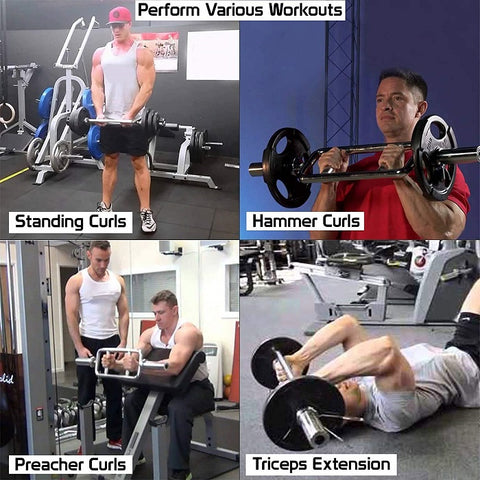 Olympic Rode Biceps and Triceps Bar Gym Machine Accessories