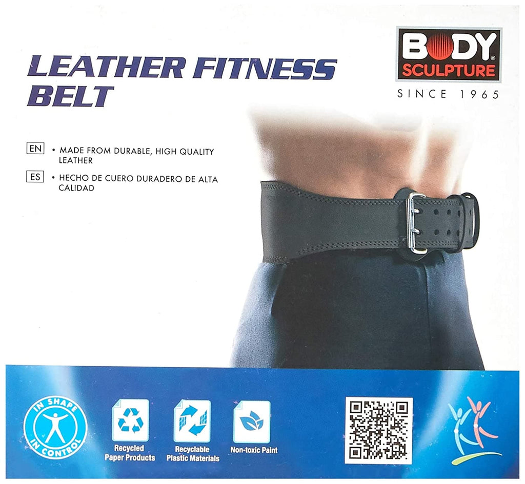 Body Sculpture BW503 Leather Fitness Belt, Small (Black)