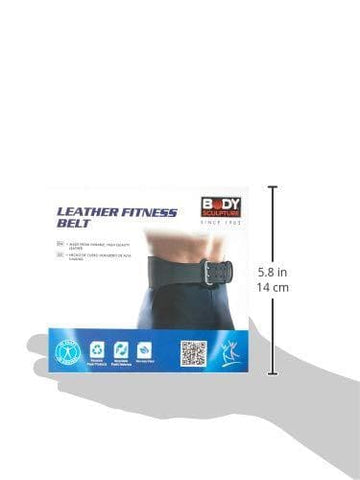 Image of Body Sculpture BW503 Leather Fitness Belt, Medium (Black)