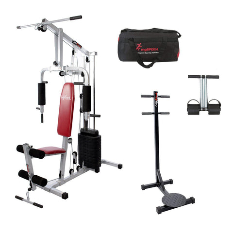 Lifeline Home Gym Setup 002 For Workout At Home Bundles With Gym Bag, Lifeline Standing Twister and Tummy Trimmer || Available on EMI-IMFIT