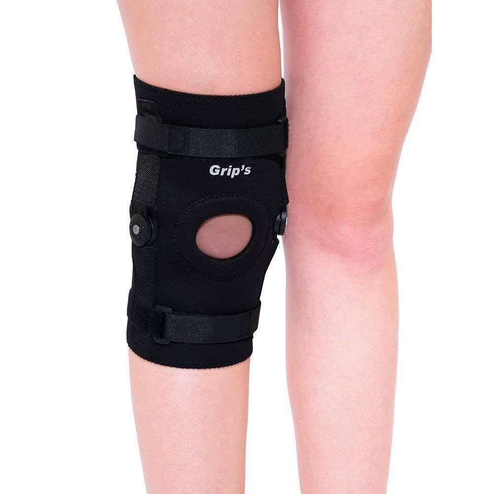Knee Cap/Pads/Support/Guard with Hinges for Knee Pain/Arthritis/Gym from Grip's (G01)
