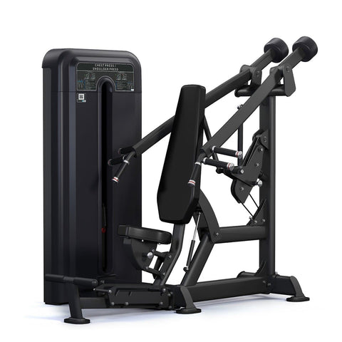 Image of Viva Fitness 300 H CHEST/ SHOULDER PRESS MACHINE WITH WEIGHT PLATES 220 LBS