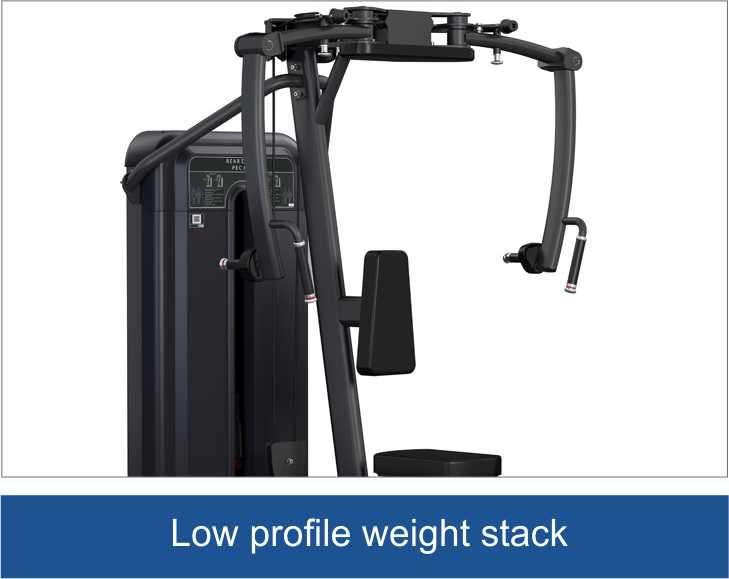 Viva Fitness 315 H COMMERCIAL PEC FLY REAR DELT FITNESS MACHINE 220 LBS