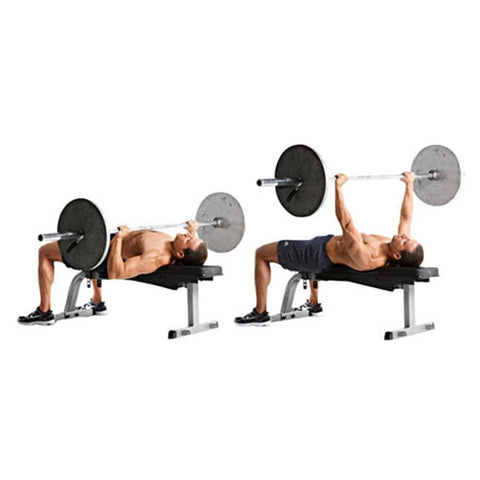 Image of Flat Bench Workout - Viva Fitness HS022 Flat Bench For Exercise