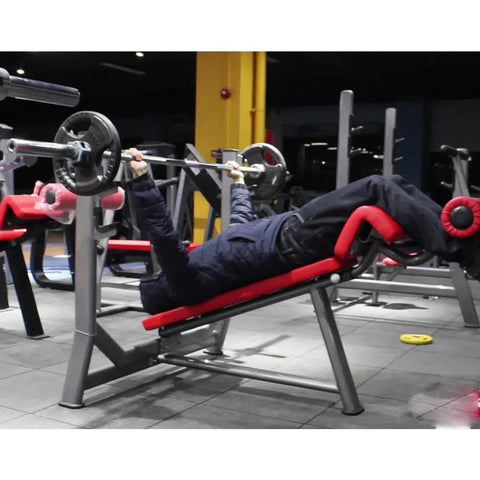 Adjustable Decline Bench - Viva Fitness HS027 Olympic Decline Bench Press For Workout