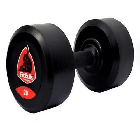 FITBULL DUMBBELL FIXED WITH PVC GRIP & MS INSIDE (Set Of 2)