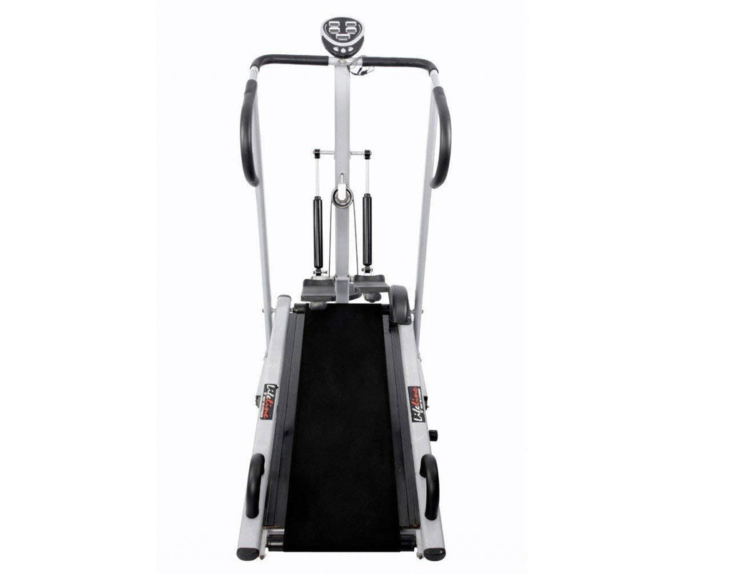 Manual Jogging Machine - Lifeline Gym Machine 4 in 1 Treadmill For Running At Home Use