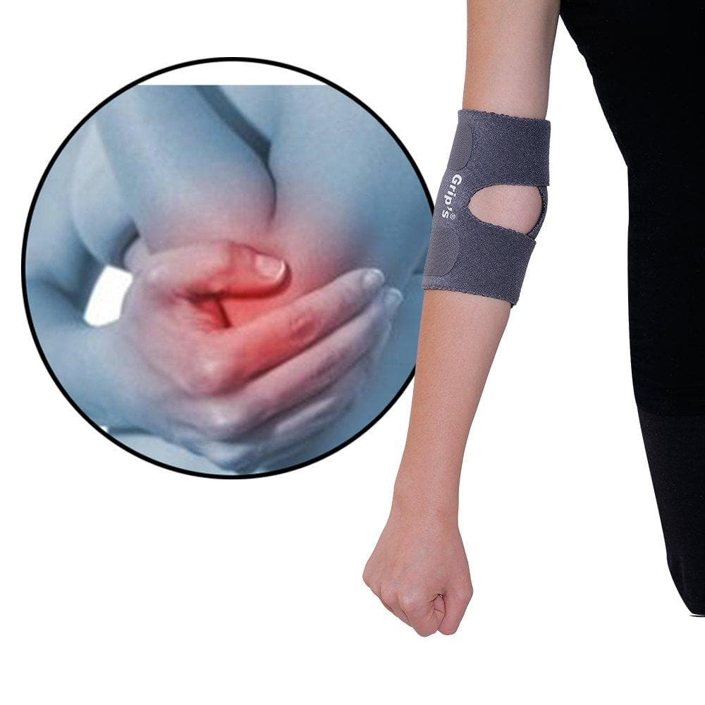 Grip's Elbow Support/Elbow Band For Tennis Elbow pain/gym R 04 (color may vary)