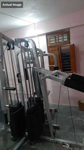 Image of Lifeline Fitness Equipment 6 Station Home Gym with 3 Weight Lines || Available on EMI