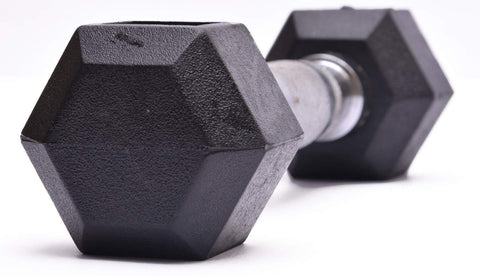 Image of RUBBER COATED HEXAGONAL DUMBBELL (Set Of 2)
