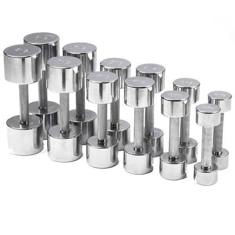 STEEL CHROME DUMBBELL (Set Of 2)