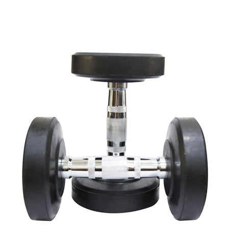 Image of Fit Bull Rubber Coated Professional Round Dumbbells Set-IMFIT