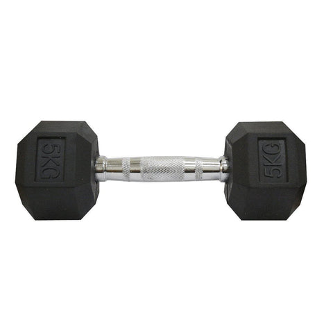 Rubber Coated Hexagonal Dumbbells Set-IMFIT
