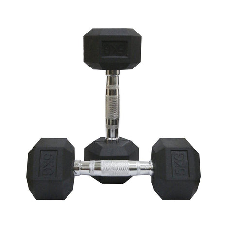 Image of Rubber Coated Hexagonal Dumbbells Set-IMFIT