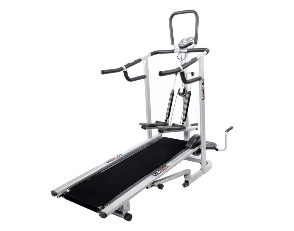 Lifeline 4 In 1 Manual Multifunctional Treadmill Deluxe For Walking and Running At Home use