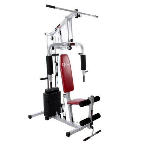 Image of Lifeline Home Gym Station 002 For Workout At Home Bundles With Shaker Bottle, Gym Bag and Yoga Mat || Available on EMI-IMFIT