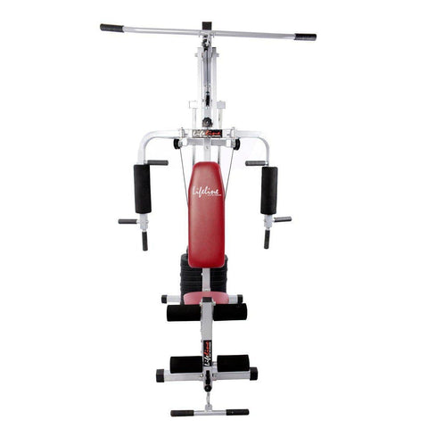 Complete Gym Equipment - Lifeline Home Gym 002 Bundles With Gym Bag, Tummy Trimmer and Weighing Scale