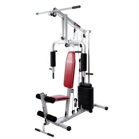 Image of Lifeline Home Gym Setup 002 For Workout At Home Bundles With Resistance Band, Gym Bag and Fitness AB Bench A5501 || Available on EMI-IMFIT