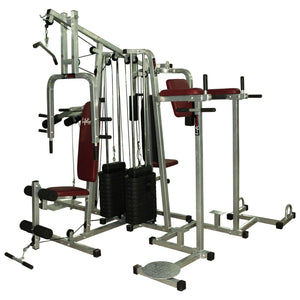Lifeline Fitness Equipment 6 Station Home Gym with 2 Weight Lines || Available on EMI