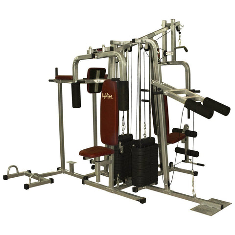 Lifeline Fitness Equipment 6 Station Home Gym with 2 Weight Lines || Available on EMI-IMFIT