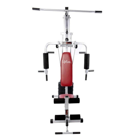 Image of Lifeline Home Gym Machine 002 For Workout At Home Bundles With Resistance Band, Skipping Rope and Exercise Curve Bench 5501A || Available on EMI-IMFIT