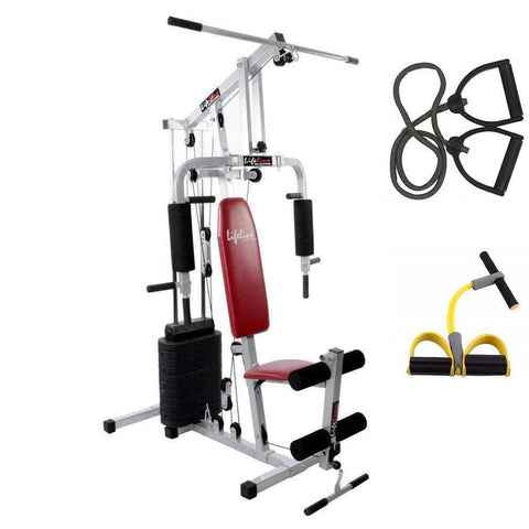 Image of Lifeline Mini Home Gym Set 002 For Workout At Home Bundles With Resistance Band and Pull Reducer || Available on EMI-IMFIT