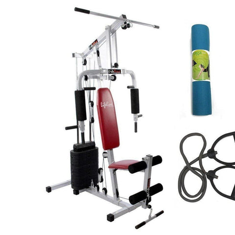 Image of Lifeline Home Gym Set 002 For Workout At Home Bundles with Resistance Band and Yoga Mat || Available on EMI-IMFIT