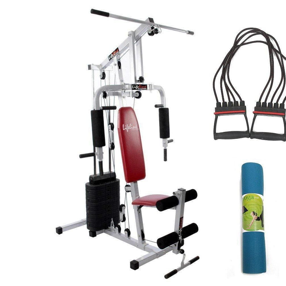 Lifeline Home Gym Set 002 For Workout At Home Bundles With Chest Expander and Yoga Mat || Available on EMI-IMFIT