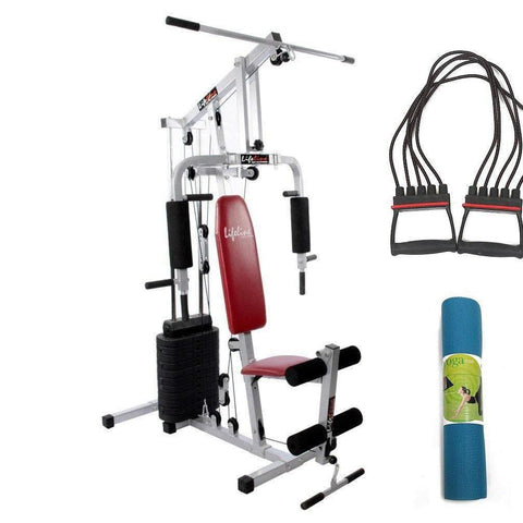 Image of Lifeline Home Gym Set 002 For Workout At Home Bundles With Chest Expander and Yoga Mat || Available on EMI-IMFIT