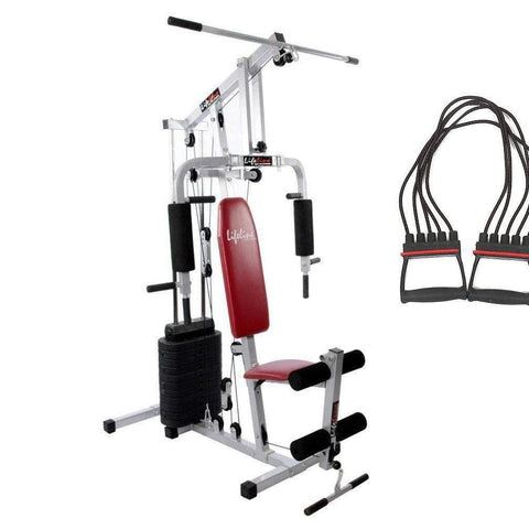 Image of Lifeline Home Gym Equipment Set 002 For Workout At Home Bundles With Chest Expander || Available on EMI-IMFIT