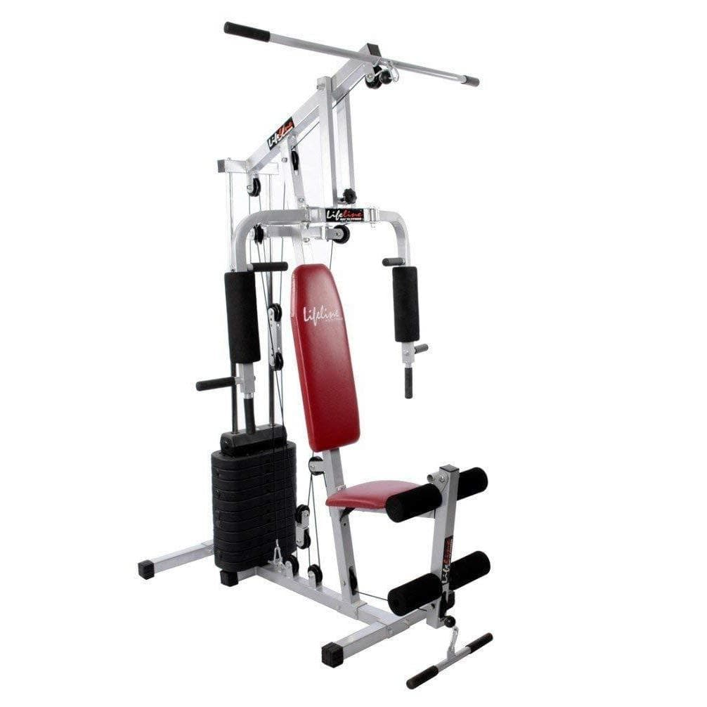 Lifeline Home Gym Machine 002 For Workout At Home Bundles With Resistance Band, Full Round Foam Roller and Fitness Curve Bench 5501A || Available on EMI-IMFIT