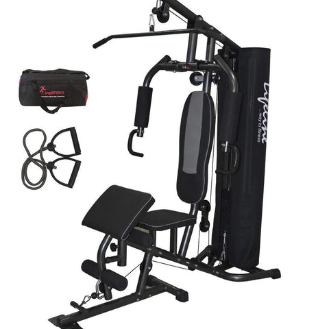 Image of Lifeline Home Gym Setup Deluxe 005 For Workout At Home Bundles With Resistance Band and Gym Bag || Available on EMI-IMFIT