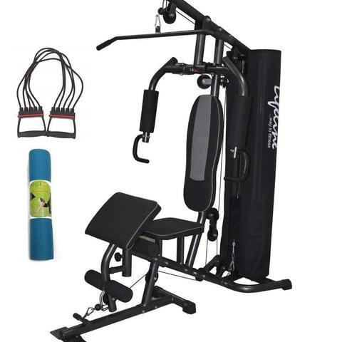 Image of Lifeline Home Gym Setup Deluxe 005 For Workout At Home Bundles With Chest Expander and Yoga Mat || Available on EMI-IMFIT