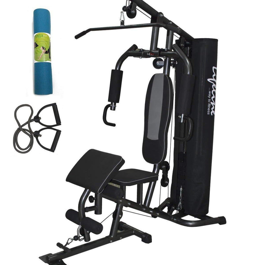 Lifeline Home Gym Equipment Deluxe 005 For Workout At Home Bundles With Resistance Band and Yoga Mat || Available on EMI-IMFIT