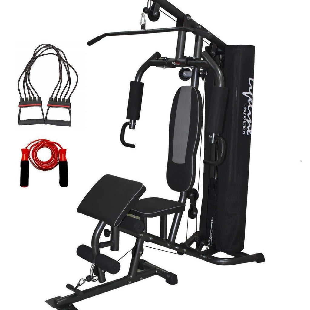 Lifeline Home Gym Setup Deluxe 005 For Workout At Home Bundles With Chest Expander and Skipping Rope || Available on EMI-IMFIT