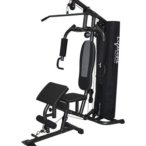 Lifeline Home Gym Machine Deluxe 005 For Workout At Home Bundles With Chest Expander, Gym Gloves and Exercise Curve Bench 5501A || Available on EMI