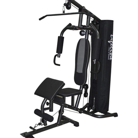 Image of Lifeline Home Gym Setup Deluxe 005 For Workout At Home Bundles With Resistance Band, Yoga Mat and Fitness Curve Bench 5501A || Available on EMI-IMFIT