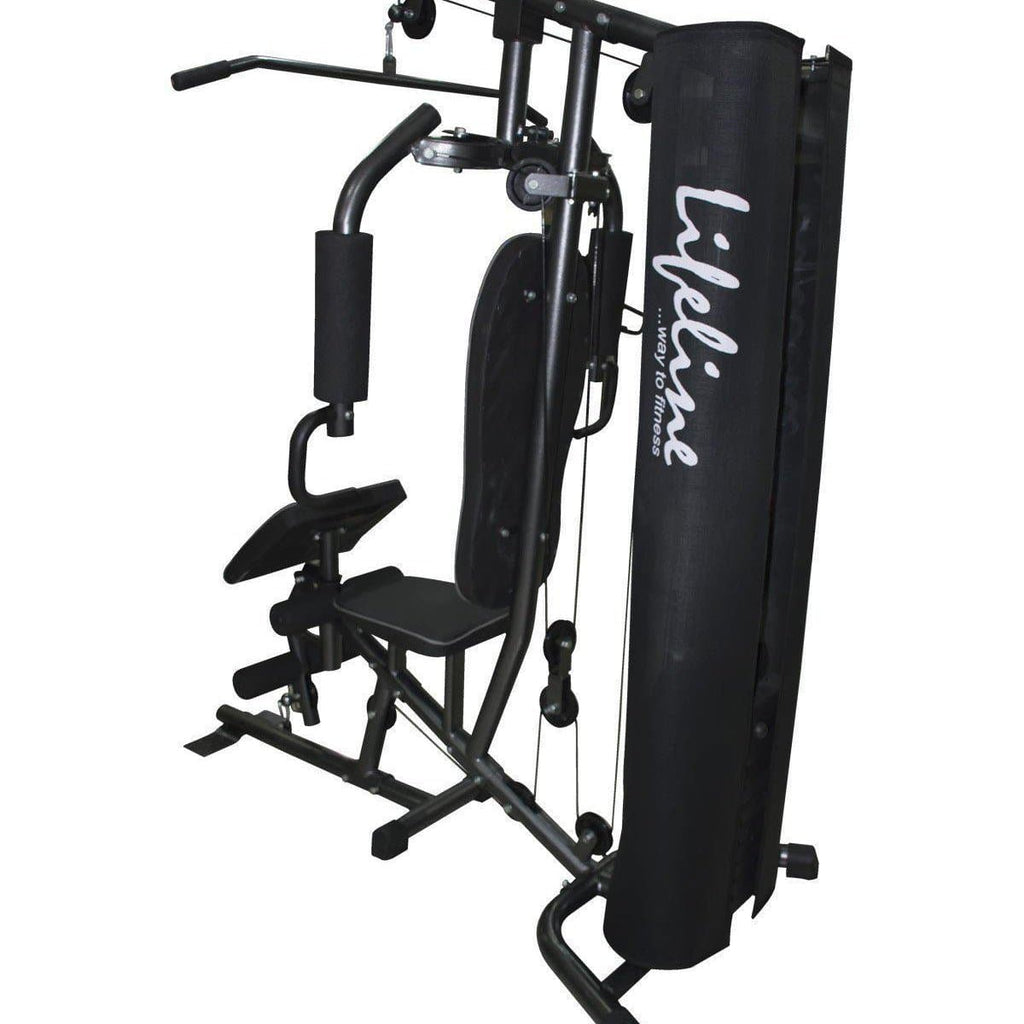 Lifeline Home Gym Station Deluxe 005 For Workout At Home Bundles With Resistance Band, Skipping Rope, Yoga Mat and Exercise Curve Bench 5501A || Available on EMI-IMFIT