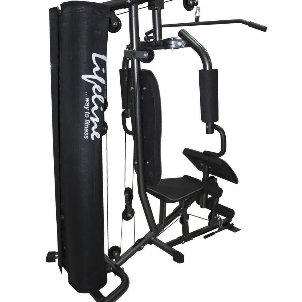 Lifeline Home Gym Machine Deluxe 005 For Workout At Home Bundles With Resistance Band, Skipping Rope and Exercise Curve Bench 5501A || Available on EMI-IMFIT